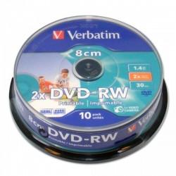 VERBATIM DVD-RW 8CM 1.46GB 43640 PRINTABLE