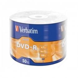VERBATIM DVD-R 4.7GB 16X/50/600 DL WRAP/43791