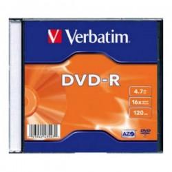 VERBATIM DVD-R 4.7GB 16X SLIM CASE 43808, SA KARTONCICEM