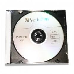 VERBATIM DVD-R 4.7GB 16X SLIM CASE 43808, BEZ KARTONCICA