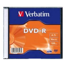 VERBATIM DVD-R 4.7GB 16X SLIM CASE 43547