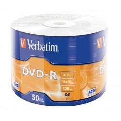 VERBATIM DVD-R 16X 4.7GB/50/600/43788/MATT SILVER AZO/WRAP/