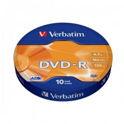 VERBATIM DVD-R 4.7GB 16X 43729 AZO/MATT SILVER