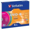 VERBATIM DVD-R 4.7GB 16X COLOR 43557