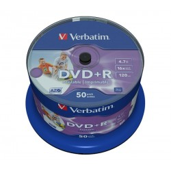VERBATIM DVD+R AZO WIDEPRINT SURFACE 4.7GB 16X 43512 NO-ID