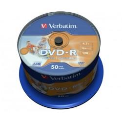 VERBATIM DVD-R AZO WIDEPRINT SURFACE 4.7GB 16X 43533 NO-ID