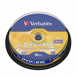 VERBATIM DVD+RW 4.7GB 4X 43488