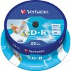 VERBATIM CD-R AZO WIDE INKJET PRINTABLE 700MB 52X 43439/CAKE BOX