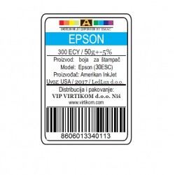 IIMAC-AMERICAN INK JET CORPORATION USA REFIL EPSON SUBLIMACIONA CYAN 300ECY/1400/1430 WF/XP