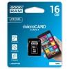 GOODRAM MEMORIJSKE KARTICE 16GB MICRO SDHC CLASS 4 SA ADAPTEROM