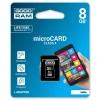 GOODRAM MEMORIJSKE KARTICE 8GB MICRO SDHC CLASS 4 SA ADAPTEROM