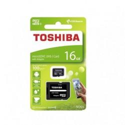 TOSHIBA MEMORIJSKE KARTICE 16GB MICRO SDHC M203 C10 UHS I U1 SA ADAPTEROM