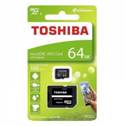 TOSHIBA MEMORIJSKE KARTICE 64GB MICRO SDHC M302  UHS I U3 SA ADAPTEROM