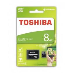 TOSHIBA MEMORIJSKE KARTICE 8GB MICRO SDHC M102 CLASS 4 SA ADAPTEROM