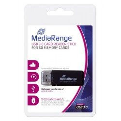 MEDIARANGE GERMANY CARD-READER USB 3.0 CARD READER STICK BLACK