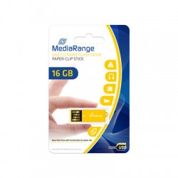 MEDIARANGE GERMANY USB FLASH MEMORIJE NANO 16GB/2.0/YELLOW PAPER-CLIP STICK MR976