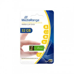 MEDIARANGE GERMANY USB FLASH MEMORIJE NANO 32GB/2.0/GREEN PAPER-CLIP STICK MR977