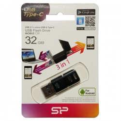 SILICON POWER TW USB FLASH MEMORIJE 32GB USB-C 3.0/MOBILE C50/CRNA/8613