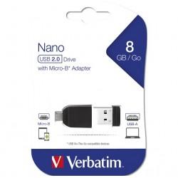 VERBATIM USB FLASH MEMORIJE NANO/8GB/SA MICRO OTG ADAPTEROM